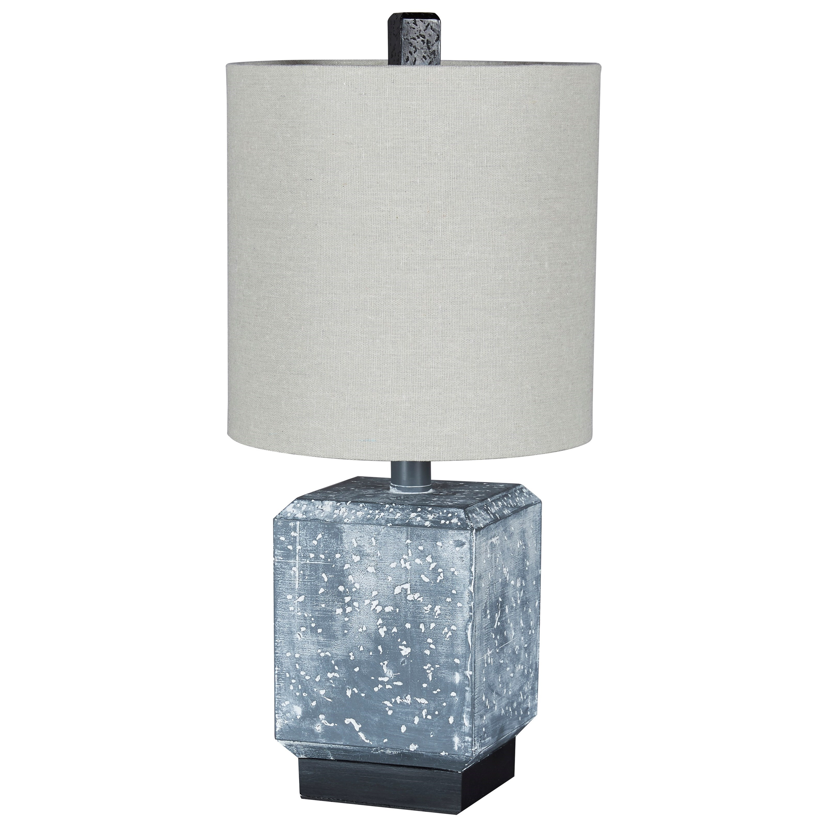 Lamps - Contemporary Jamila Gray/Black Poly Table Lamp by Ashley (Signature Design) at Johnny Janosik
