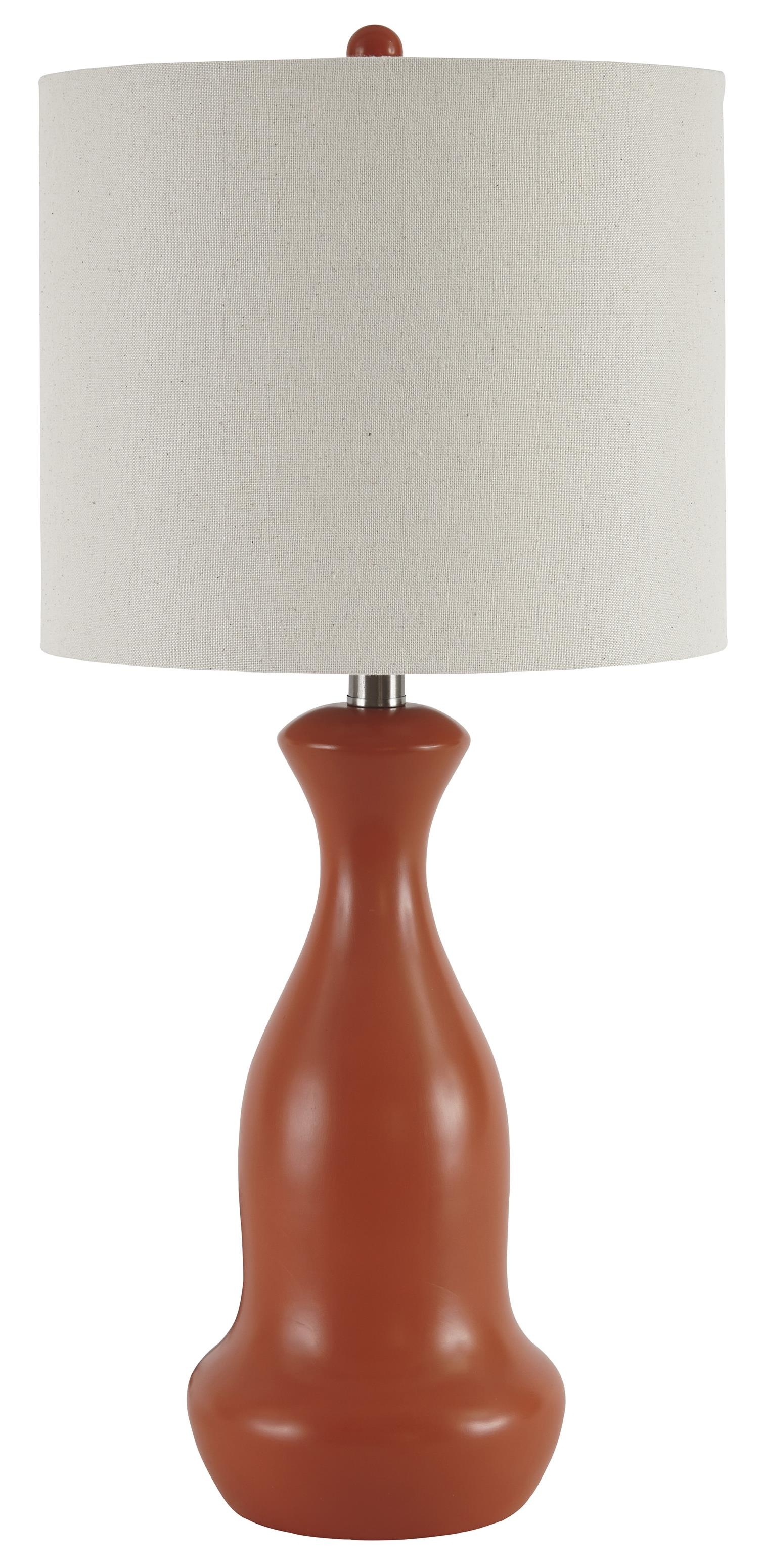 Signature Design by Ashley Lamps - Contemporary Set of 2 Stellina Poly Table Lamps - Item Number: L243094