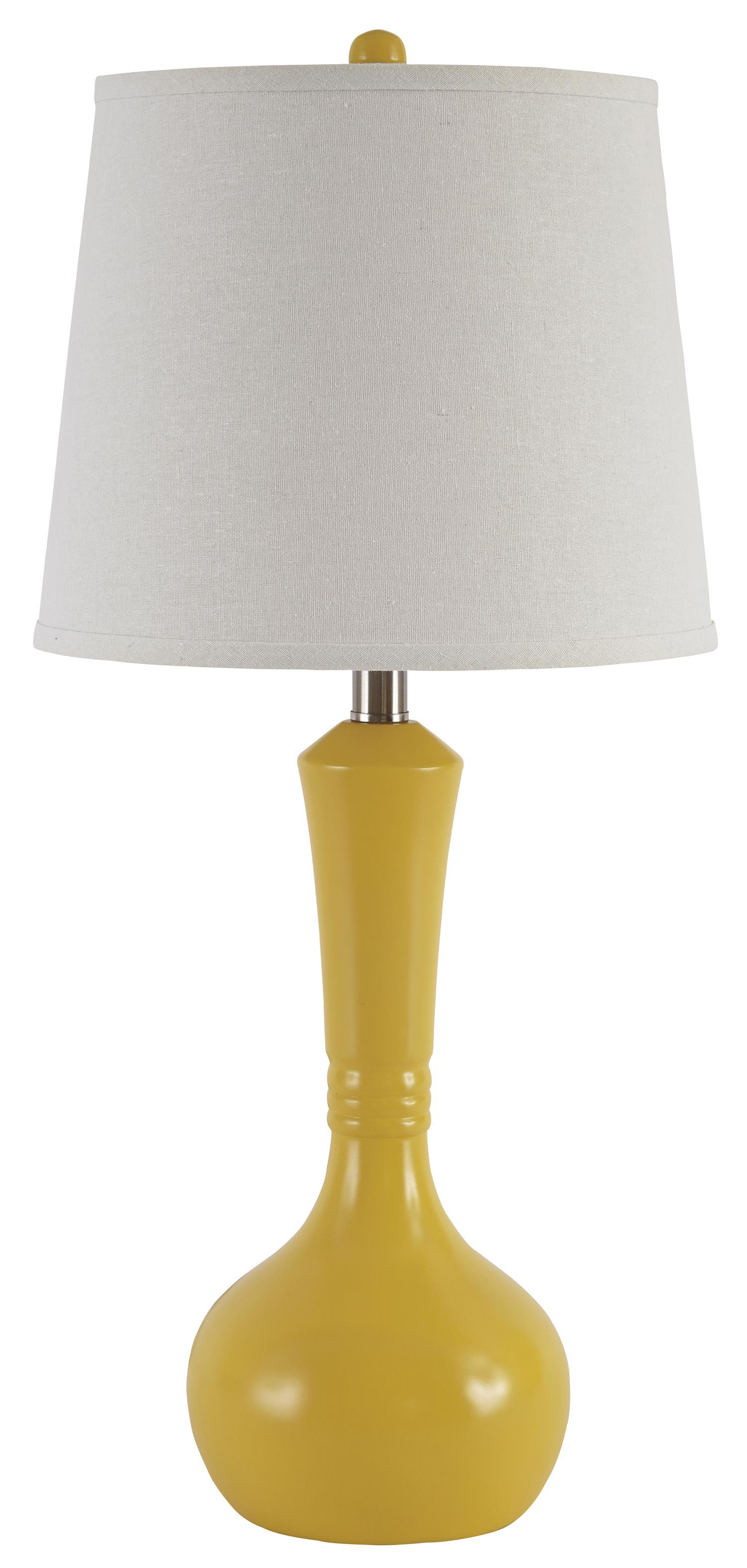 Signature Design by Ashley Lamps - Contemporary Set of 2 Synthie Poly Table Lamps - Item Number: L243104