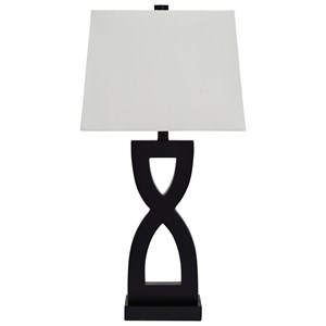 Signature Design by Ashley Lamps - Contemporary Set of 2 Amasi Poly Table Lamps