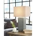 Signature Design by Ashley Lamps - Contemporary Set of 2 Amergin Faux Concrete Table Lamps