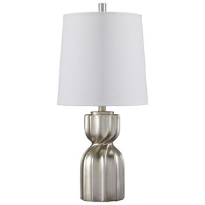 Ashley Signature Design Lamps - Contemporary Makalia Champagne Poly Table Lamp