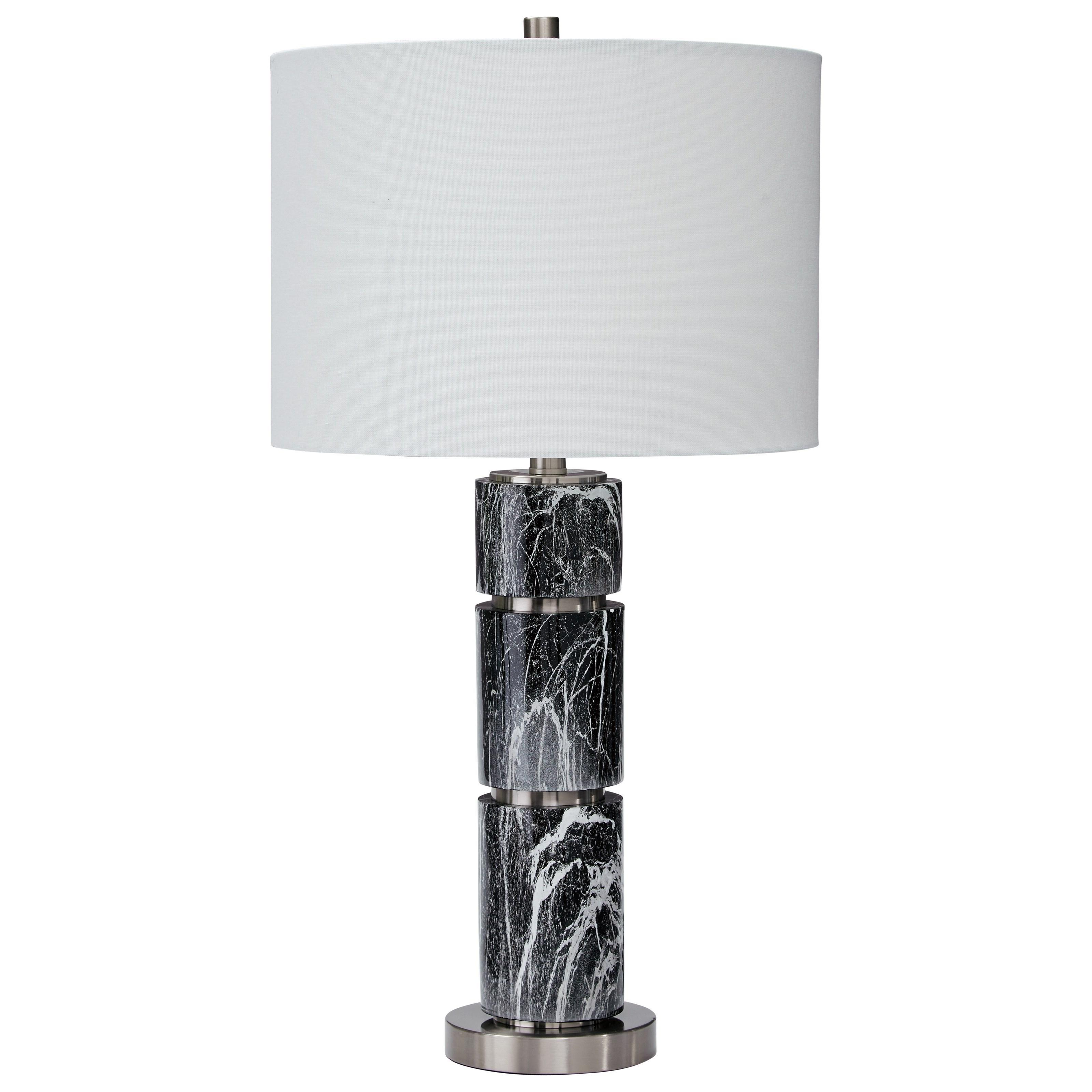 Set of 2 Maricela Black/White Table Lamps