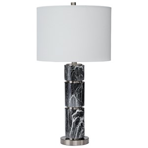 Ashley Signature Design Lamps - Contemporary Set of 2 Maricela Black/White Table Lamps
