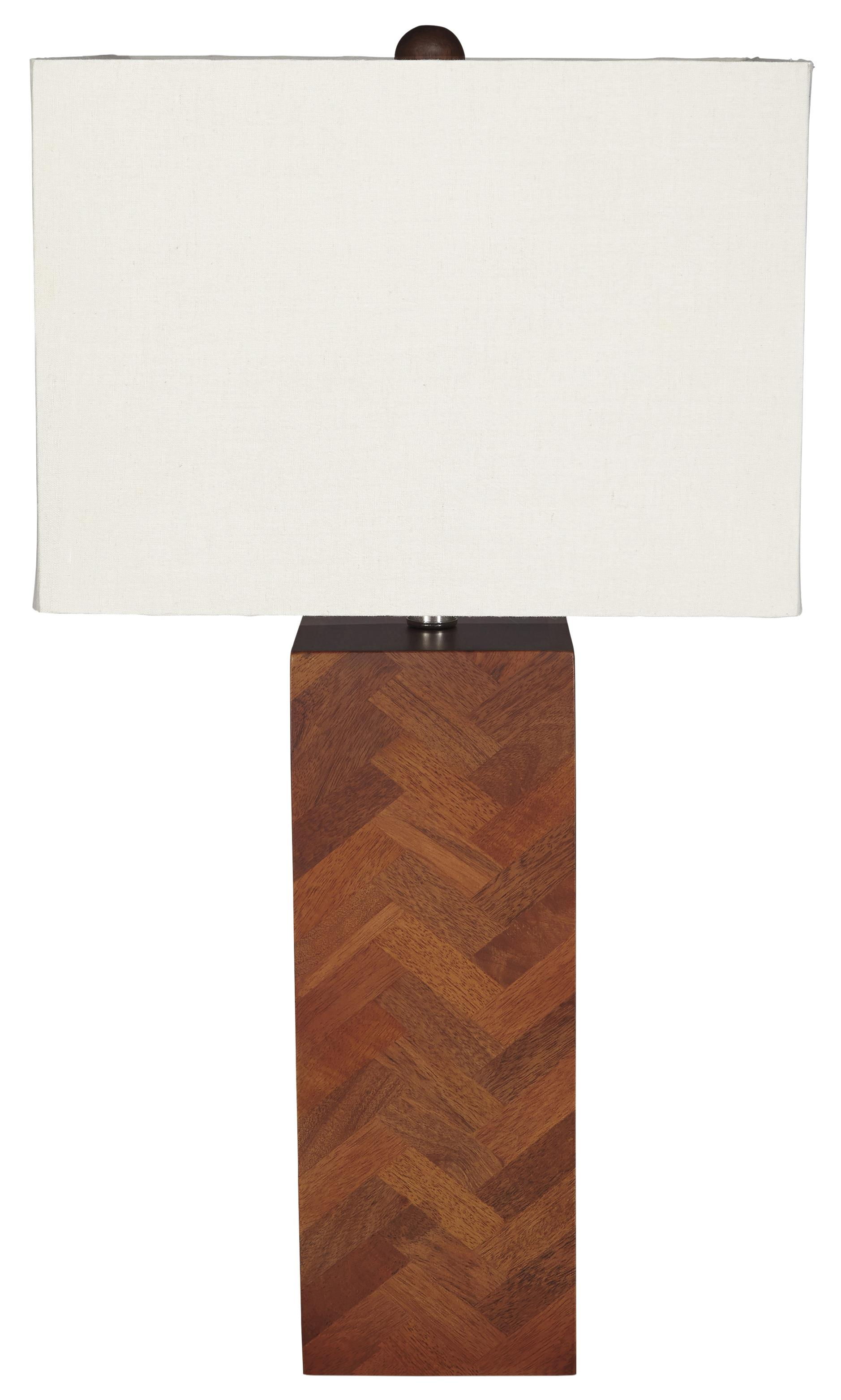 Signature Design by Ashley Lamps - Contemporary Tabeal Wood Table Lamp - Item Number: L327184