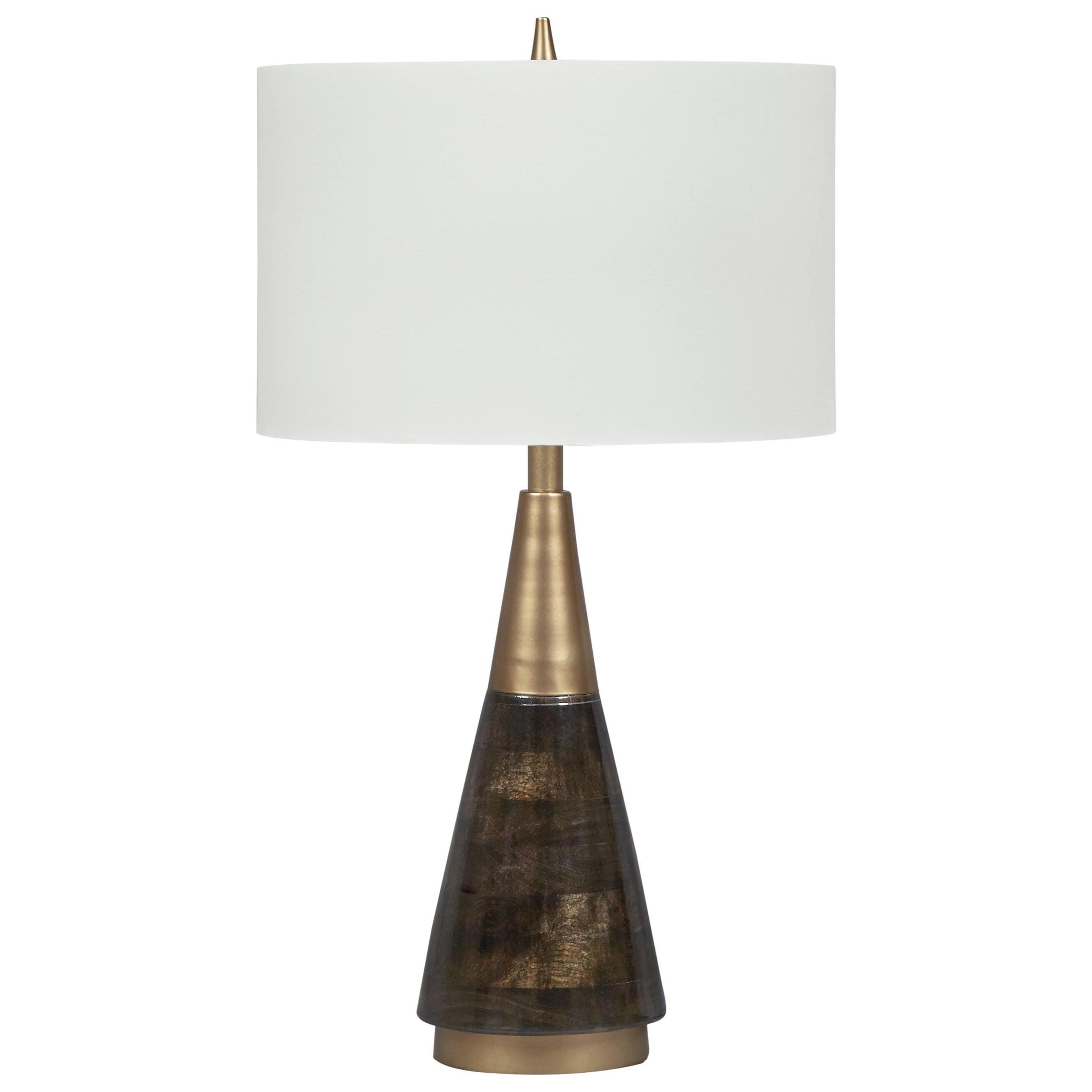 Lyrah Black/Gold Finish Wood Table Lamp