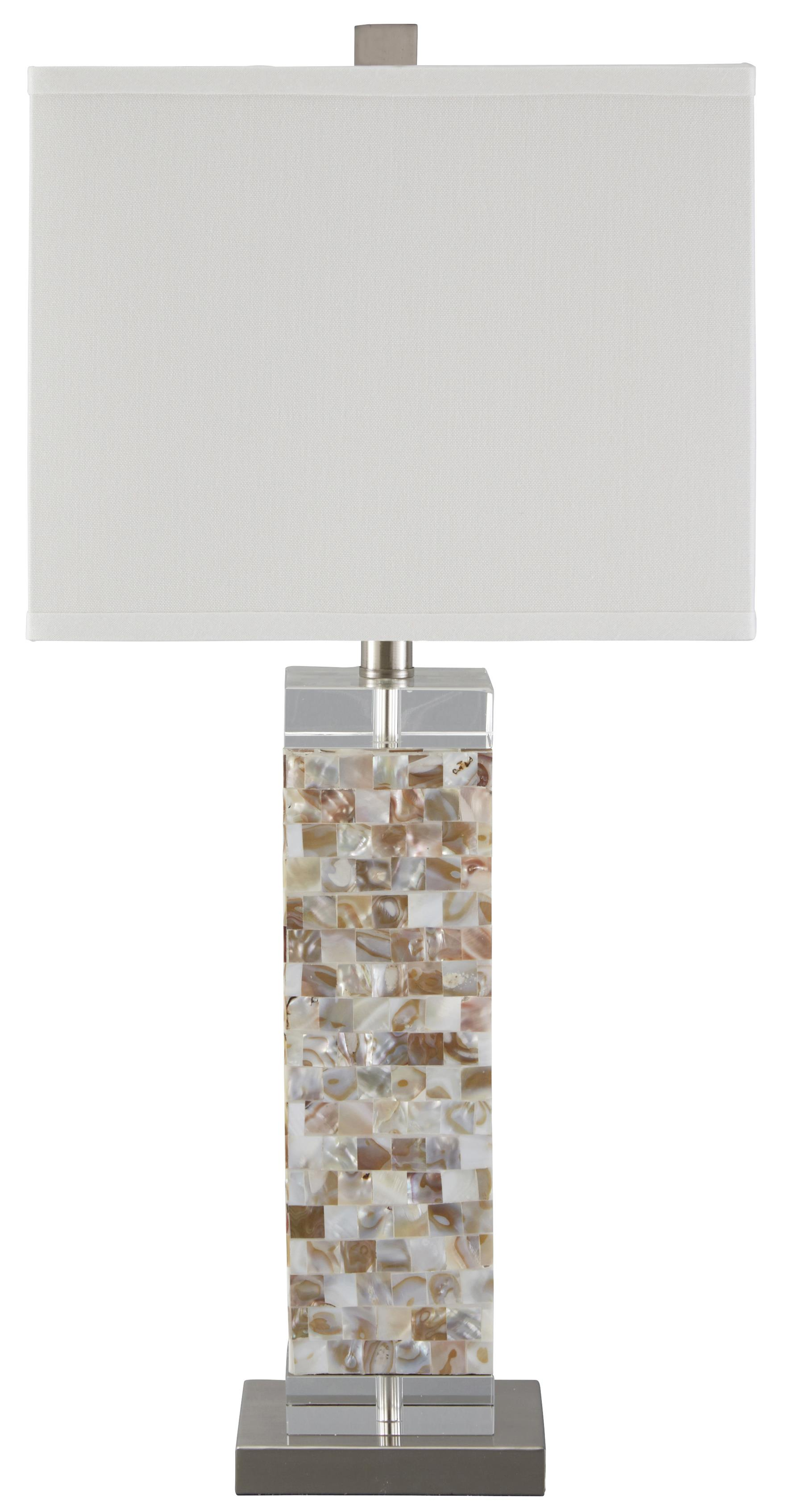 Signature Design by Ashley Lamps - Contemporary Tahira Shell Table Lamp - Item Number: L390024