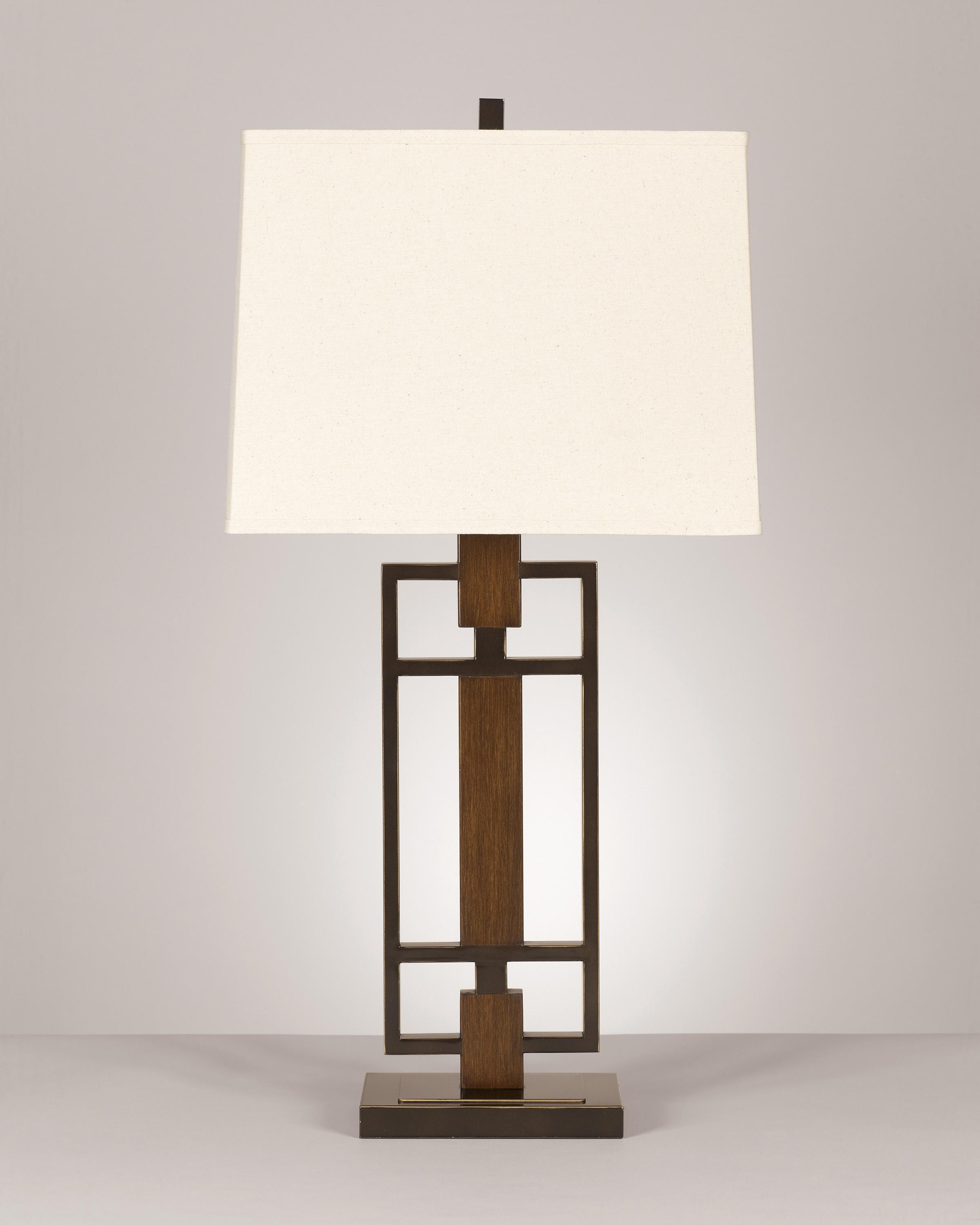 Signature Design by Ashley Lamps - Contemporary Set of 2 Omaris Metal Table Lamps - Item Number: L406894