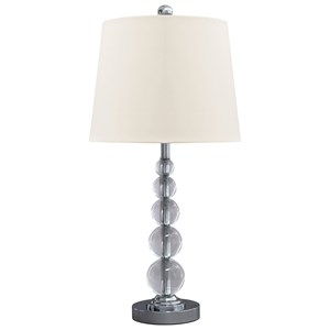 Set of 2 Joaquin Clear/Silver Table Lamps