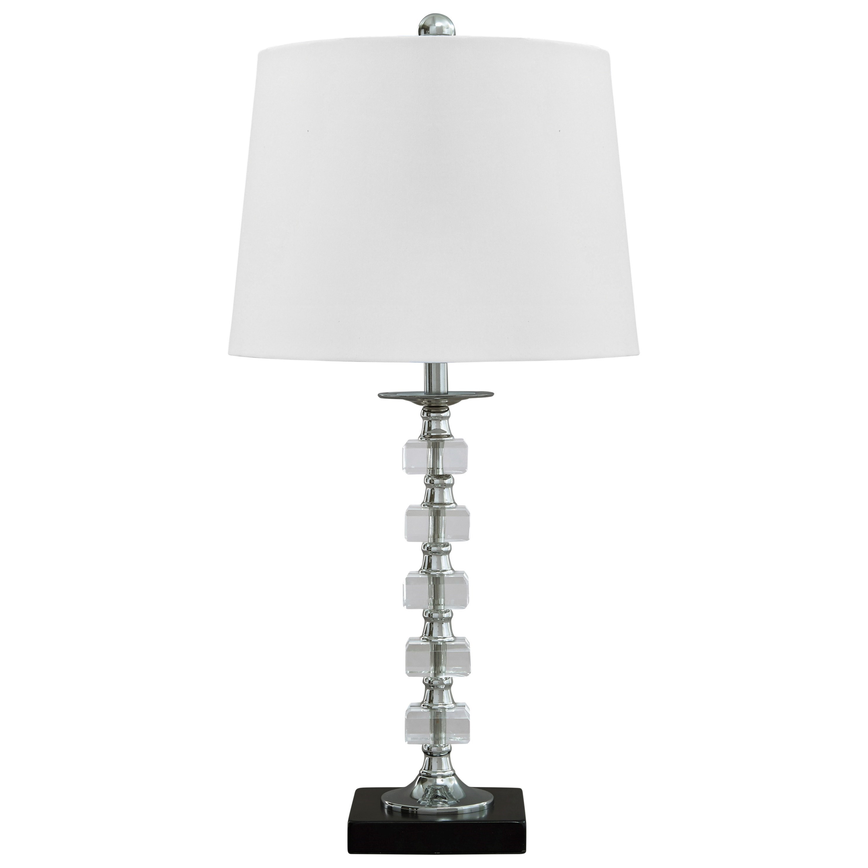 Signature Design by Ashley Lamps - Contemporary Set of 2 Leesa Clear Crystal Table Lamps - Item Number: L428094