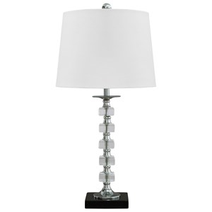 Set of 2 Leesa Clear Crystal Table Lamps