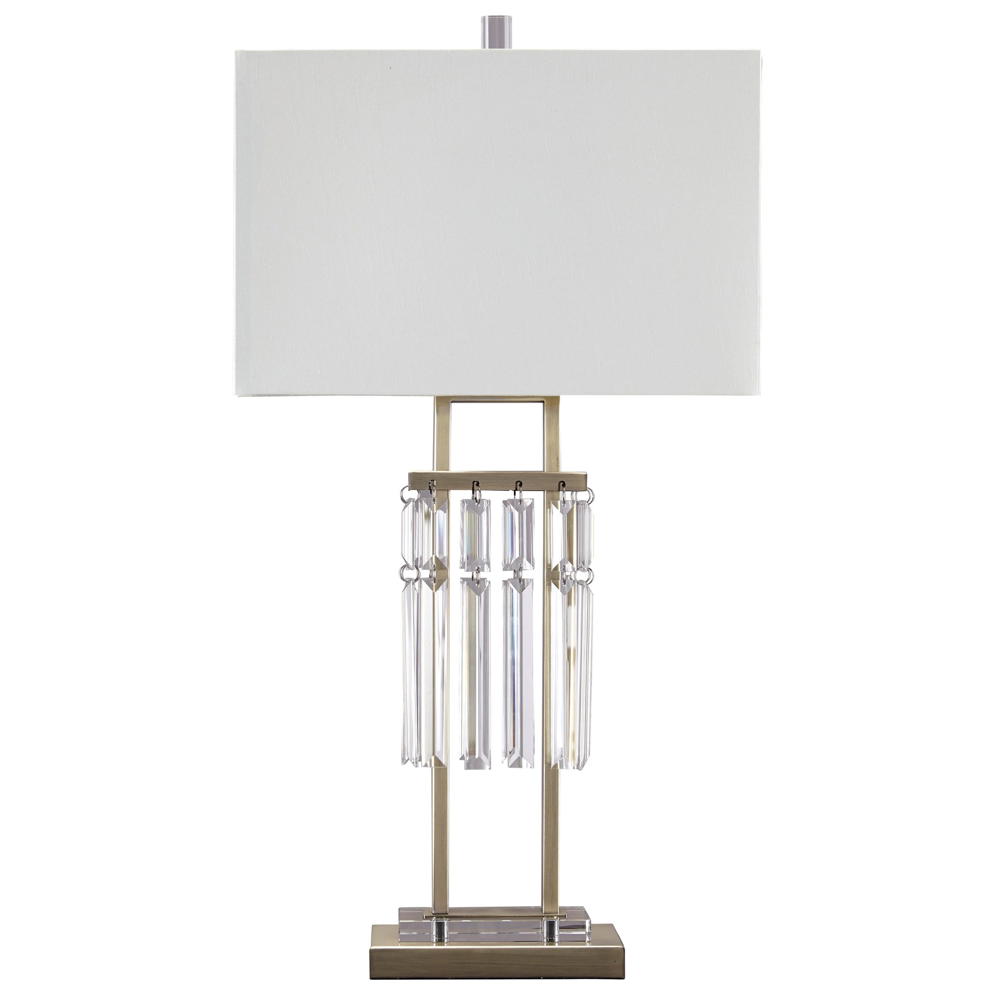 Megdalia Clear/Brass Finish Metal Table Lamp