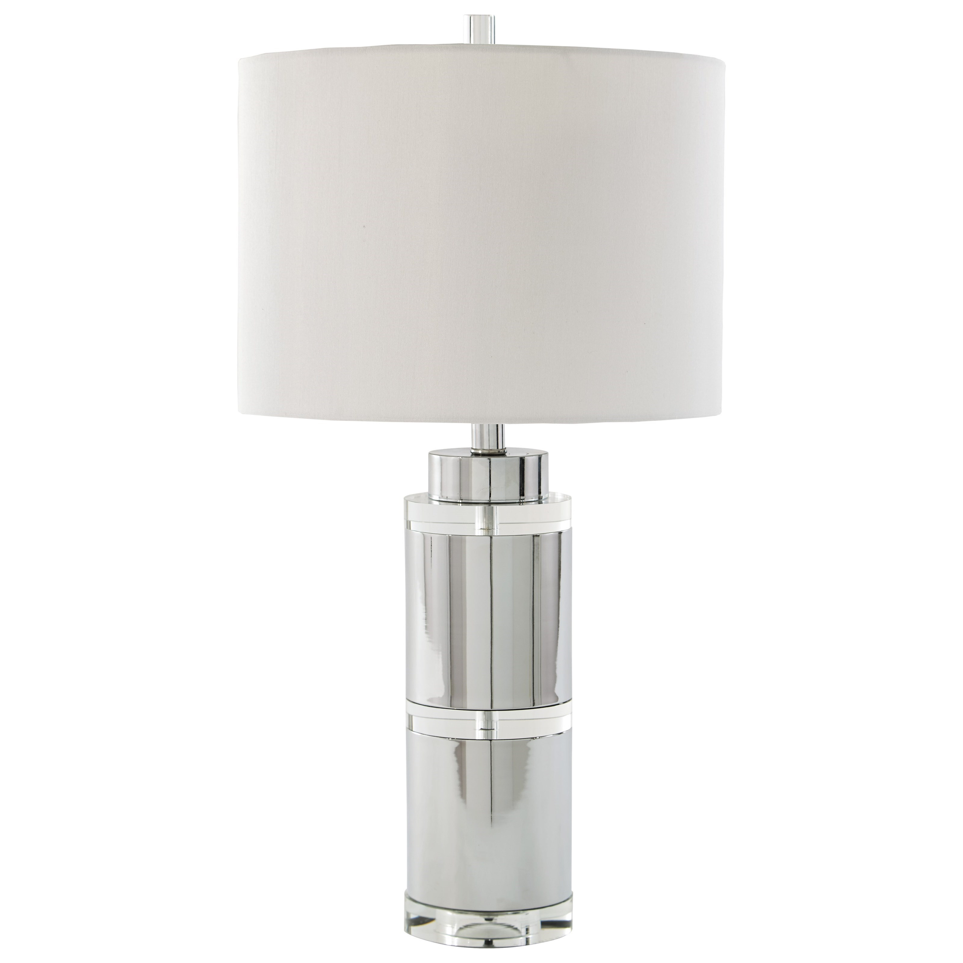 Signature Design by Ashley Lamps - Contemporary Set of 2 Makram Metal Table Lamps - Item Number: L428124