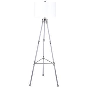 Idalia Clear/Silver Acrylic Floor Lamp