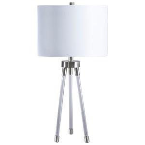 Idalia Clear/Silver Acrylic Table Lamp