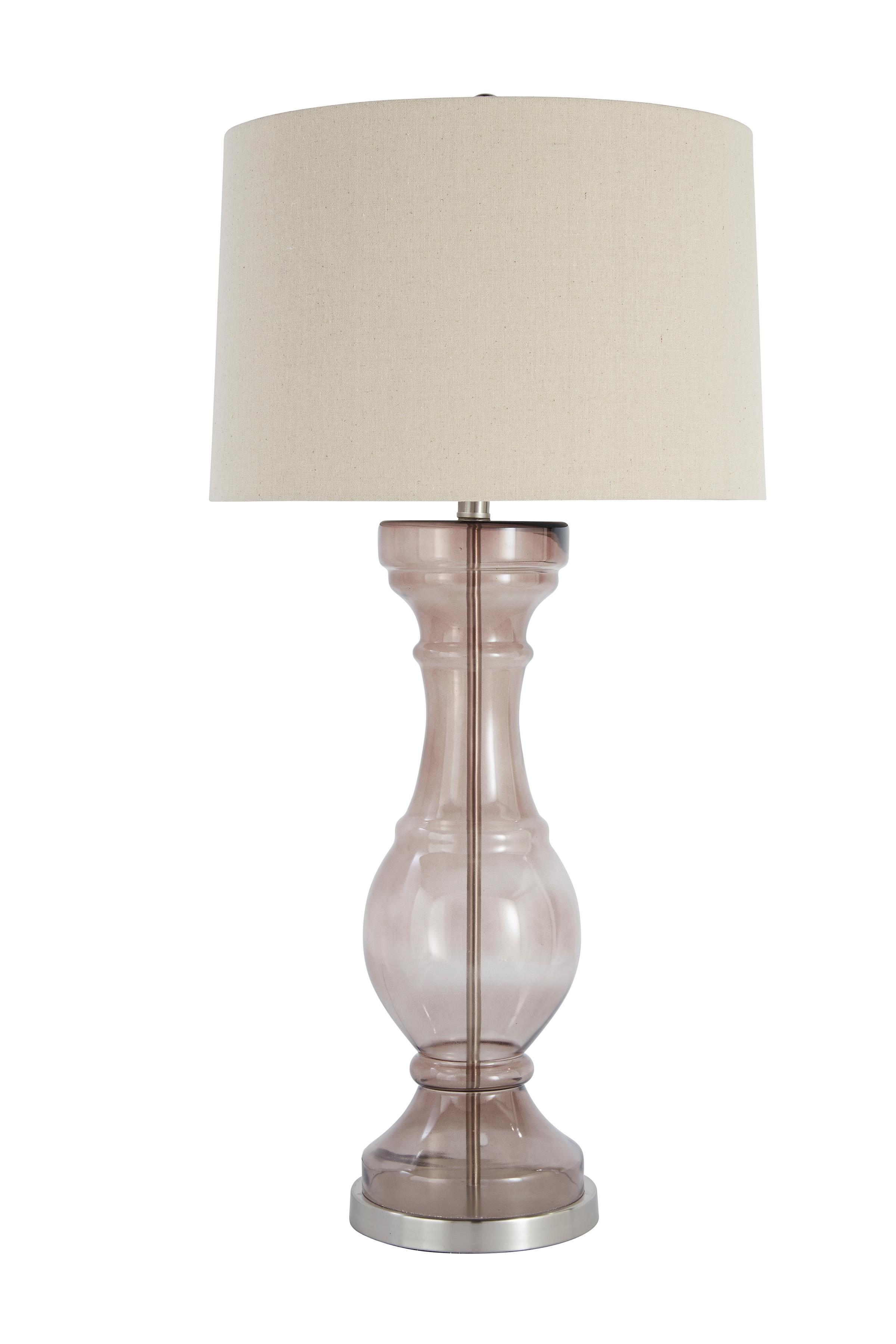 Signature Design by Ashley Lamps - Contemporary Glass Table Lamp  - Item Number: L430024