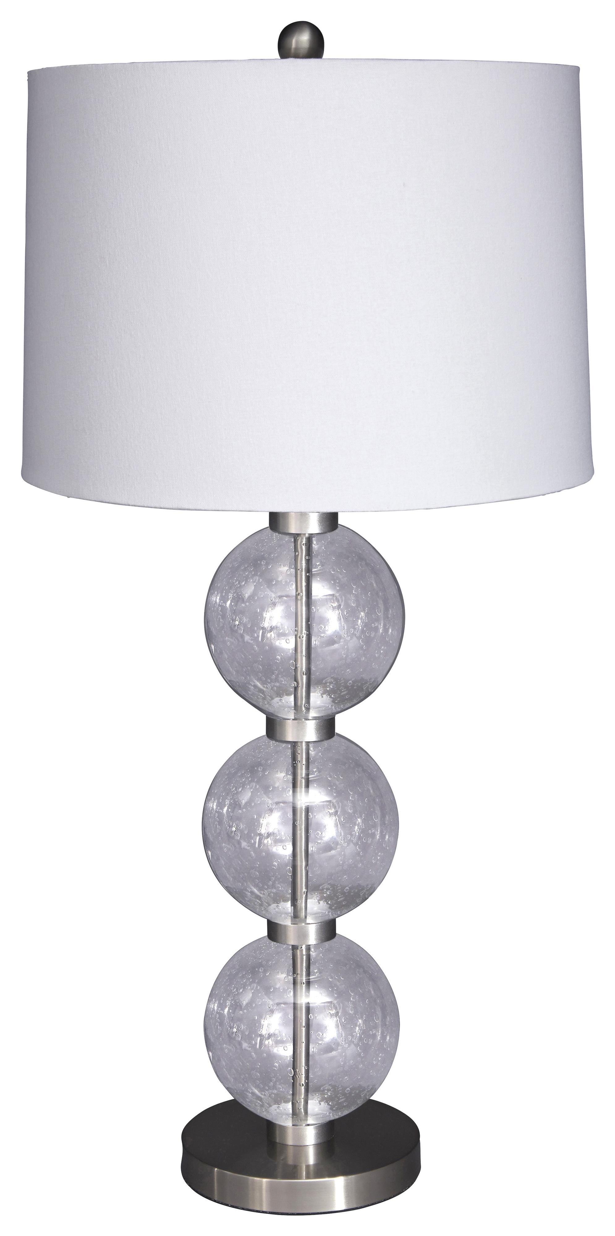 Signature Design by Ashley Lamps - Contemporary Shodan Glass Table Lamp - Item Number: L430074