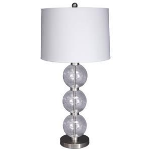 Signature Design by Ashley Lamps - Contemporary Shodan Glass Table Lamp