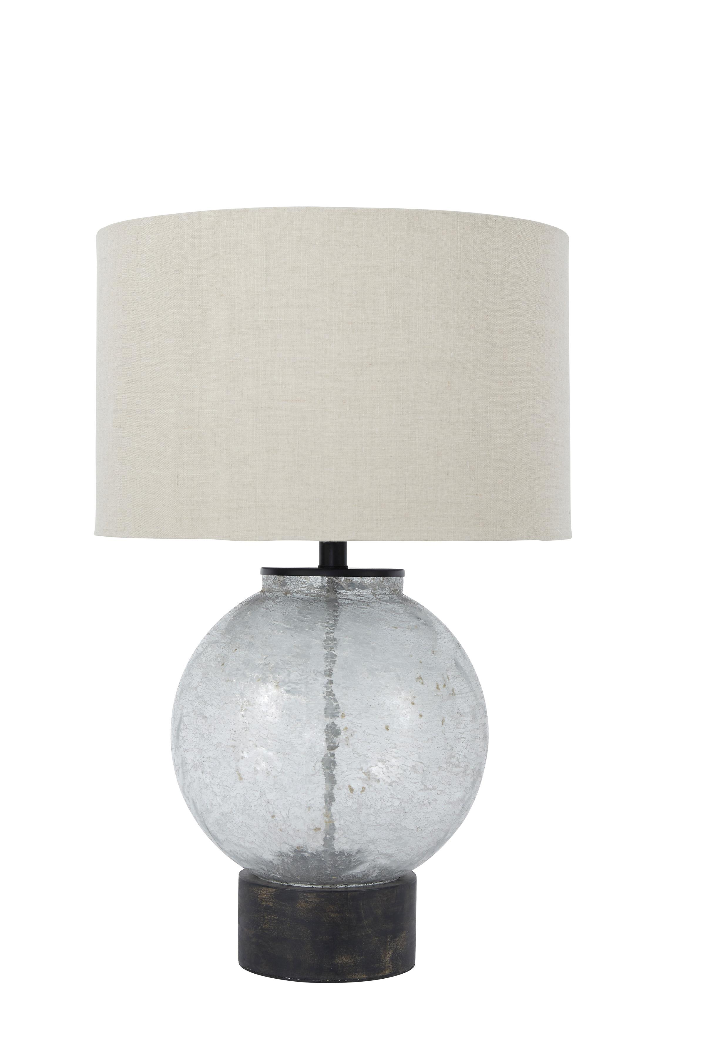 Signature Design by Ashley Lamps - Contemporary Shauni Transparent Glass Table Lamp - Item Number: L430224