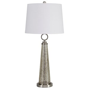 Signature Design by Ashley Lamps - Contemporary Arama Mercury Glass Table Lamp