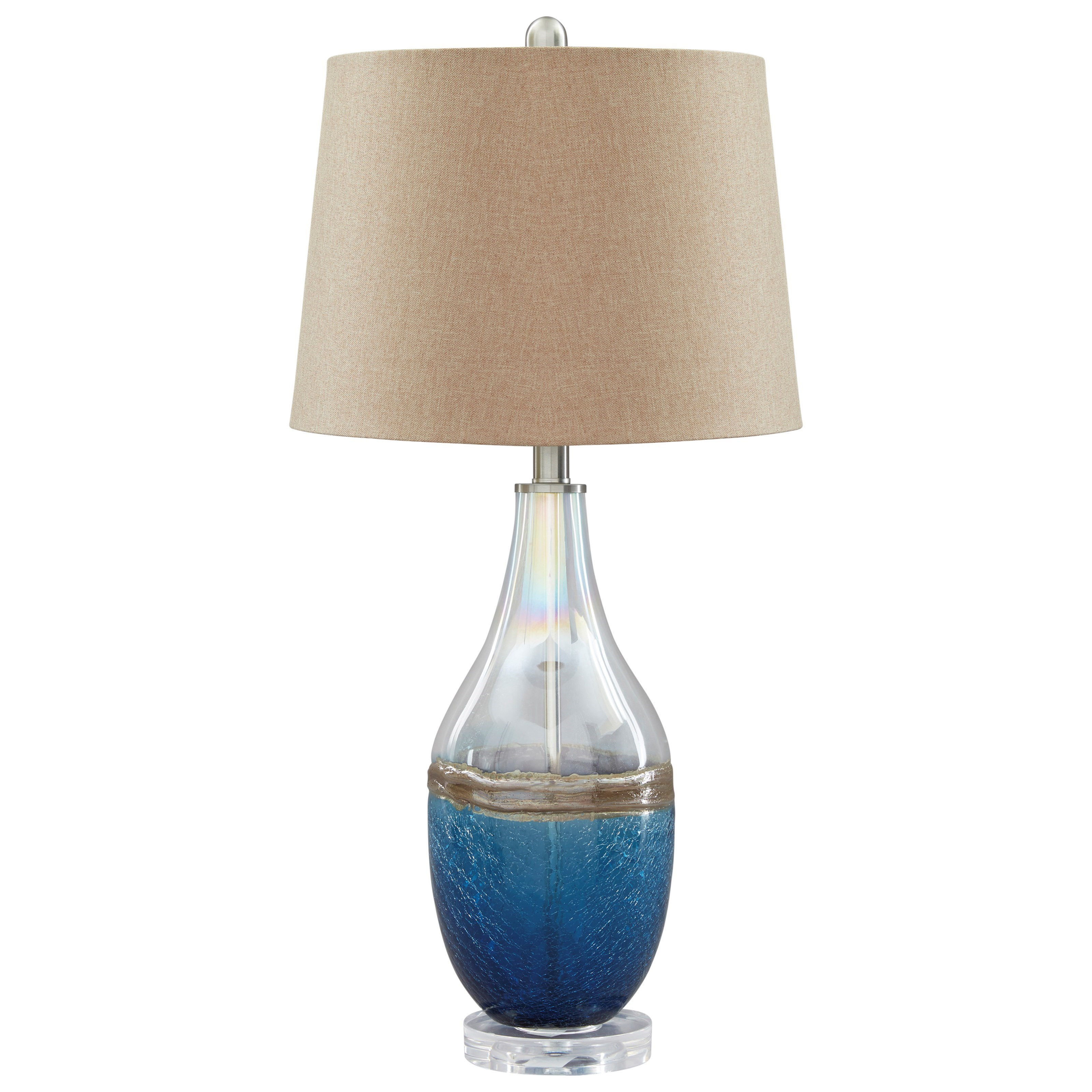 Lamps - Contemporary Johanna Glass Table Lamp by Ashley (Signature Design) at Johnny Janosik