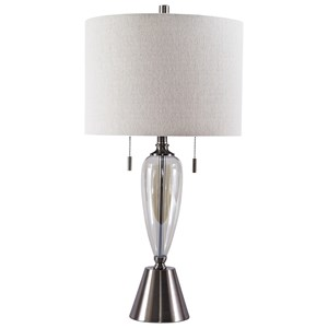 Set of 2 Maizah Champagne Glass Table Lamps