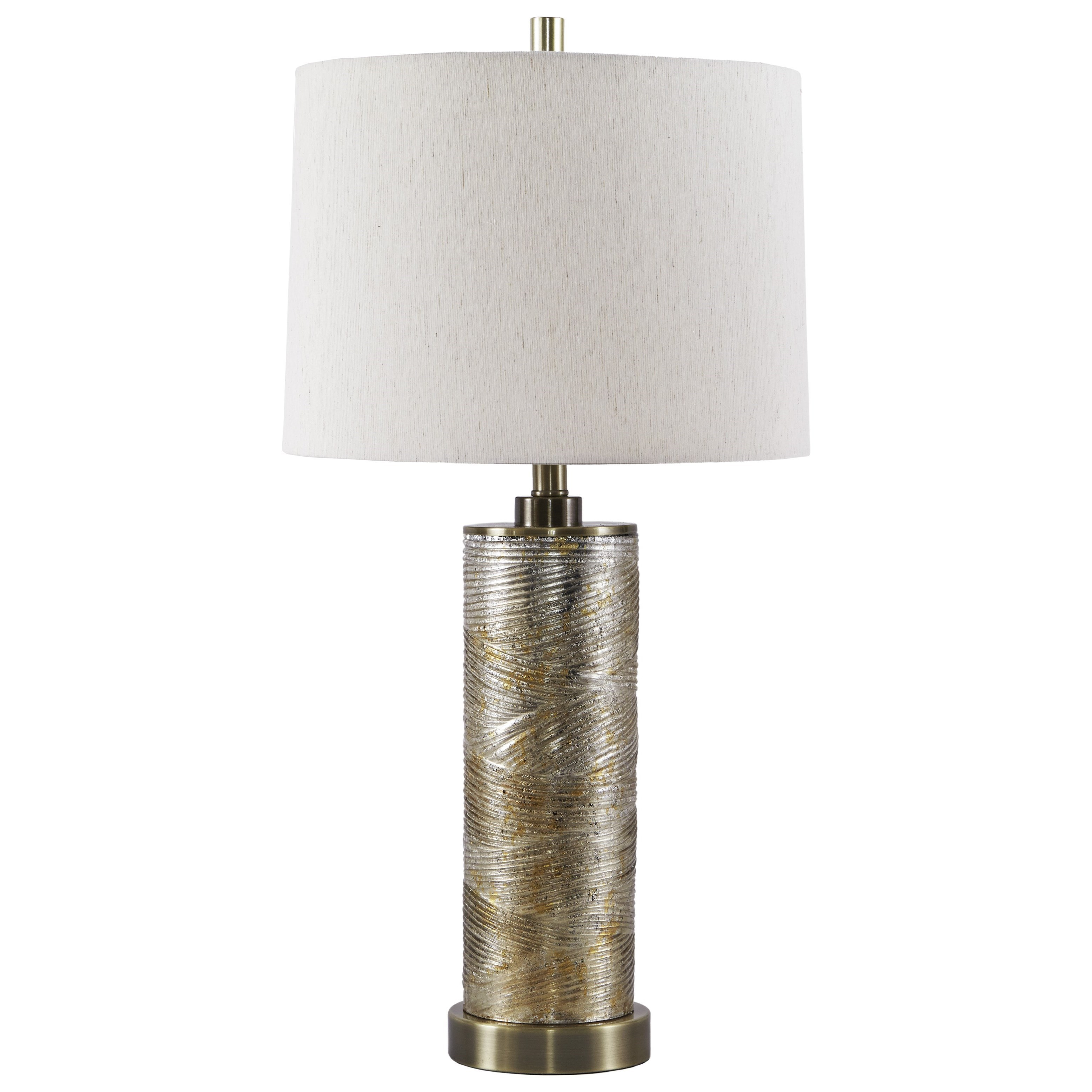 Farrar Gold Finish Glass Table Lamp