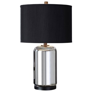 Set of 2 Marinda Silver Glass Table Lamps