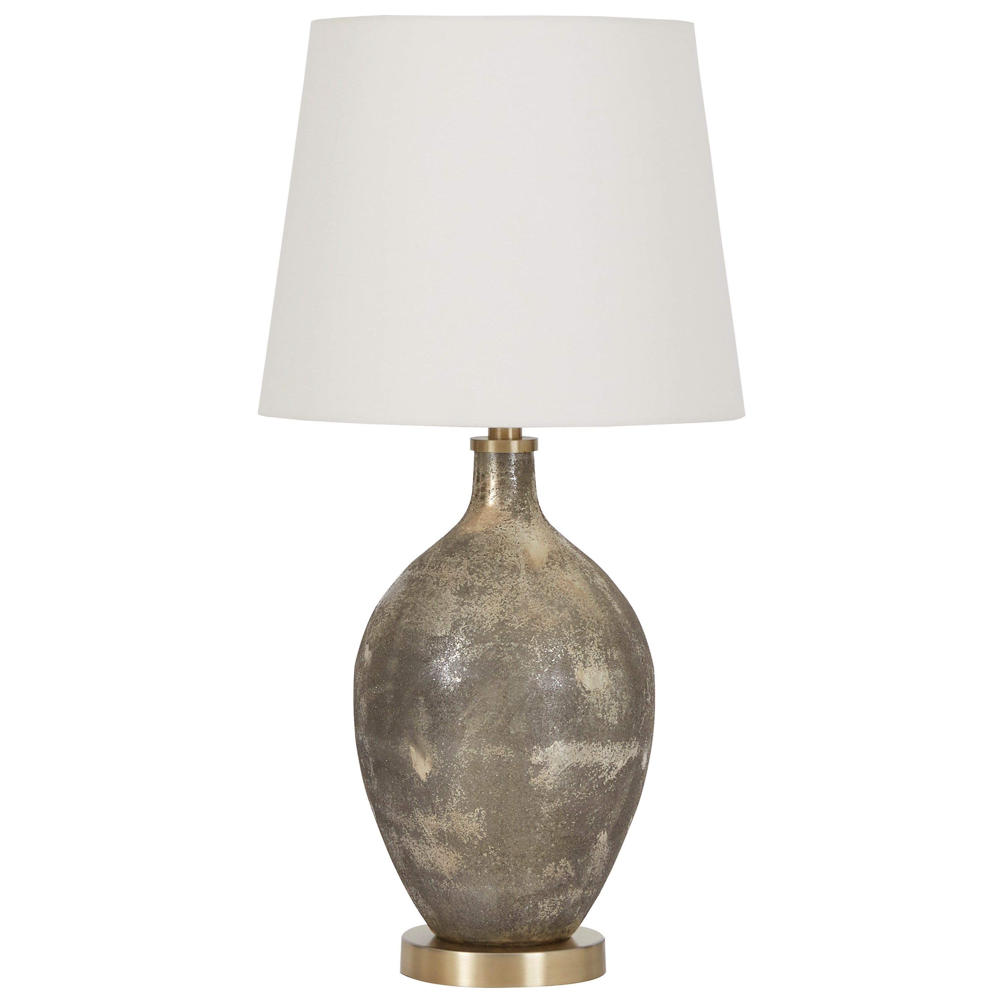 Lamps - Contemporary Jemarie Gray/Gold Finish Glass Table Lamp by Ashley (Signature Design) at Johnny Janosik