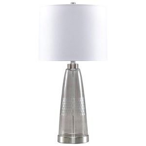 Larrance Gray Glass Table Lamp