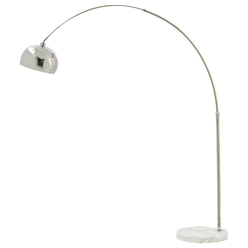 Signature Design by Ashley Lamps - Contemporary Osasco Silver Finish Metal Arc Lamp - Item Number: L725099