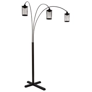 Signature Design by Ashley Lamps - Contemporary Maovesa Bronze Metal Arc Lamp
