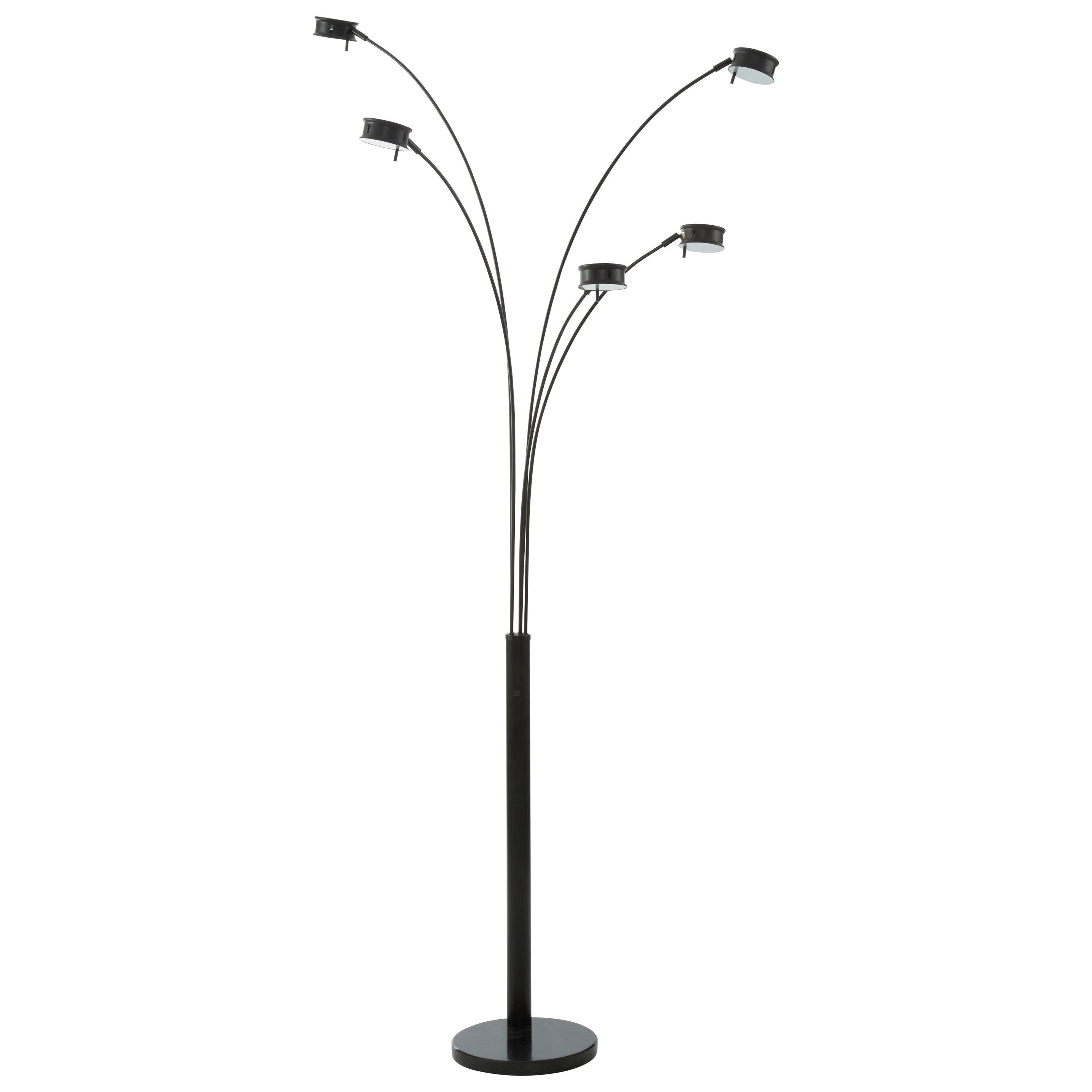 Lamps - Contemporary Marike Black Metal Arc Lamp by Ashley (Signature Design) at Johnny Janosik