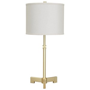 Laurinda Antique Brass Metal Table Lamp