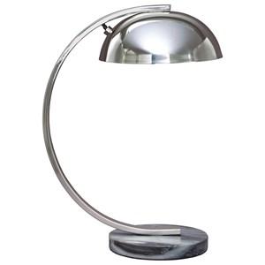 Haden Chrome Finish Metal Desk Lamp