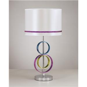 Signature Design by Ashley Lamps - Contemporary Rianna Poly Table Lamp