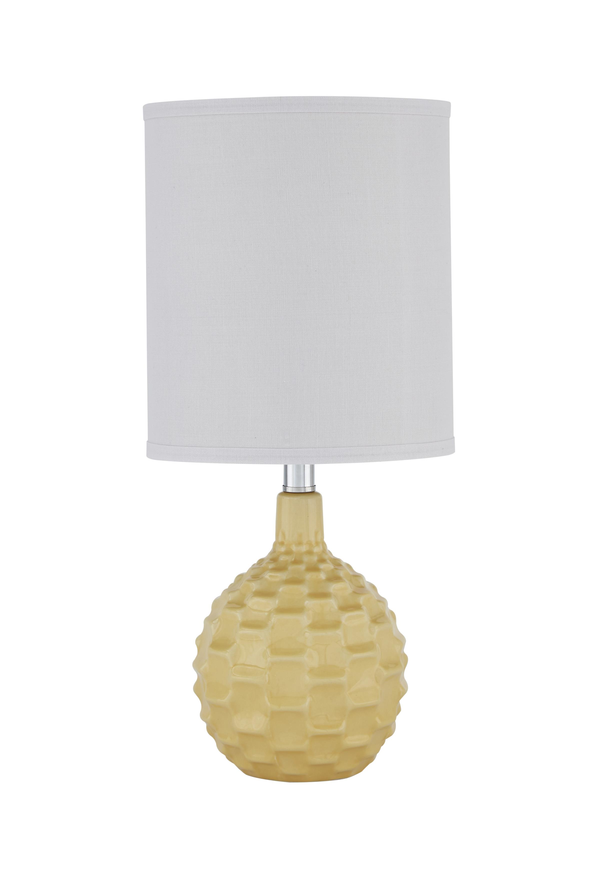Signature Design by Ashley Lamps - Contemporary Sondre Yellow Ceramic Table Lamp - Item Number: L857434