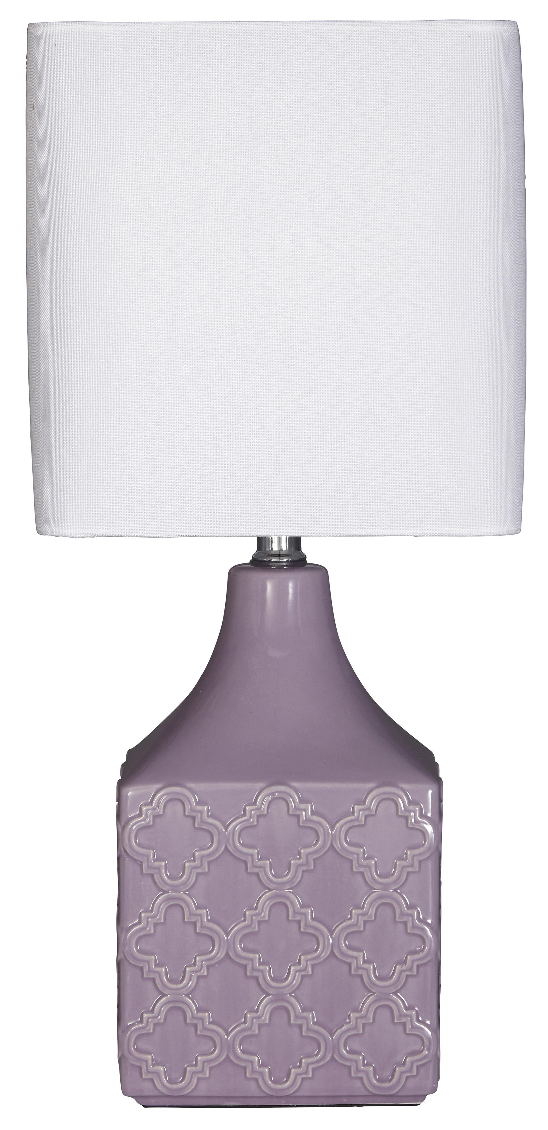 Signature Design by Ashley Lamps - Contemporary Simmone Ceramic Table Lamp - Item Number: L857444