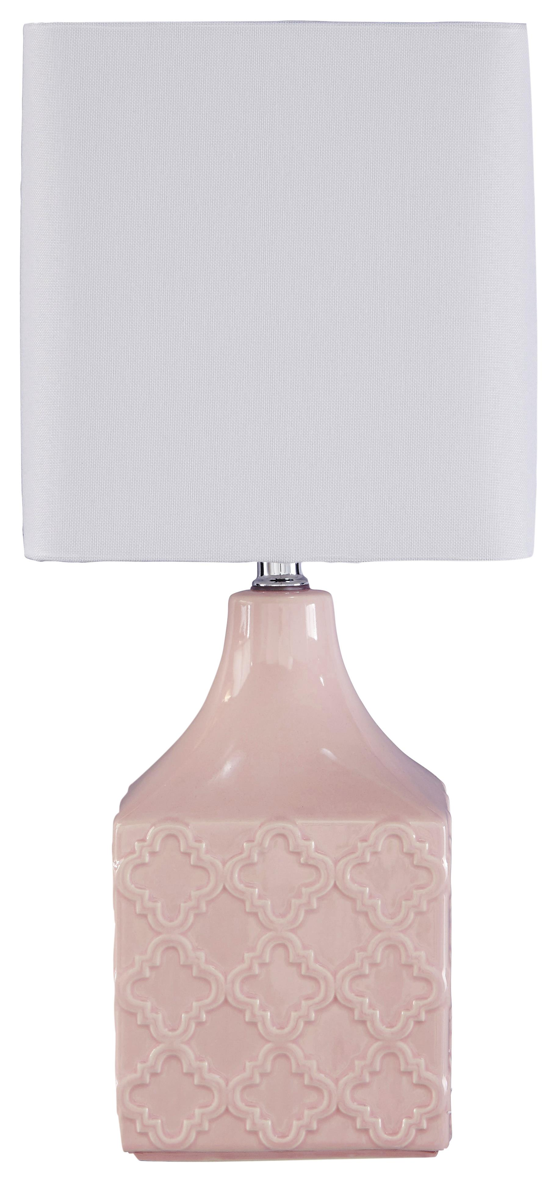 Signature Design by Ashley Lamps - Contemporary Simmone Ceramic Table Lamp - Item Number: L857454