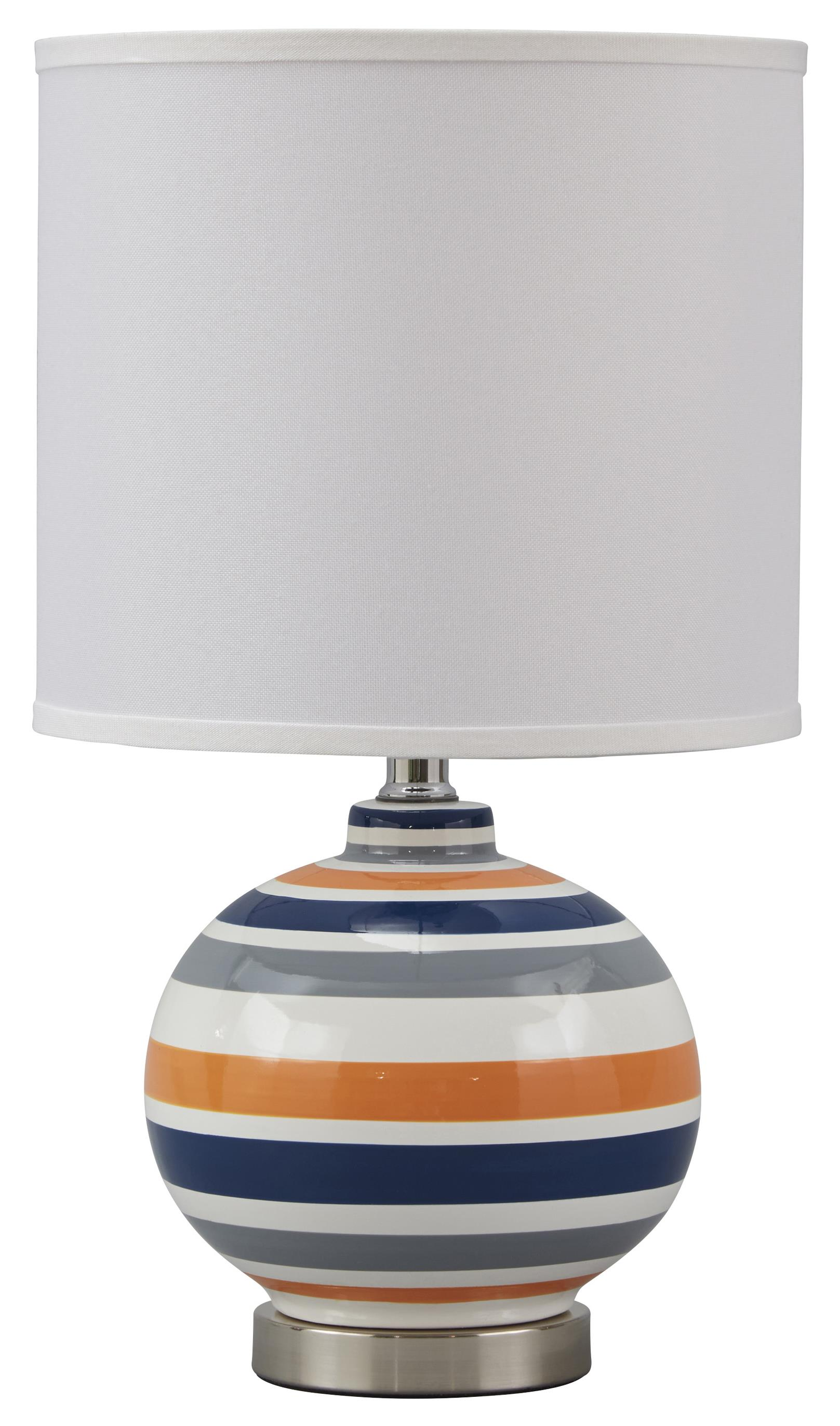 Signature Design by Ashley Lamps - Contemporary Sirene Ceramic Table Lamp - Item Number: L857464