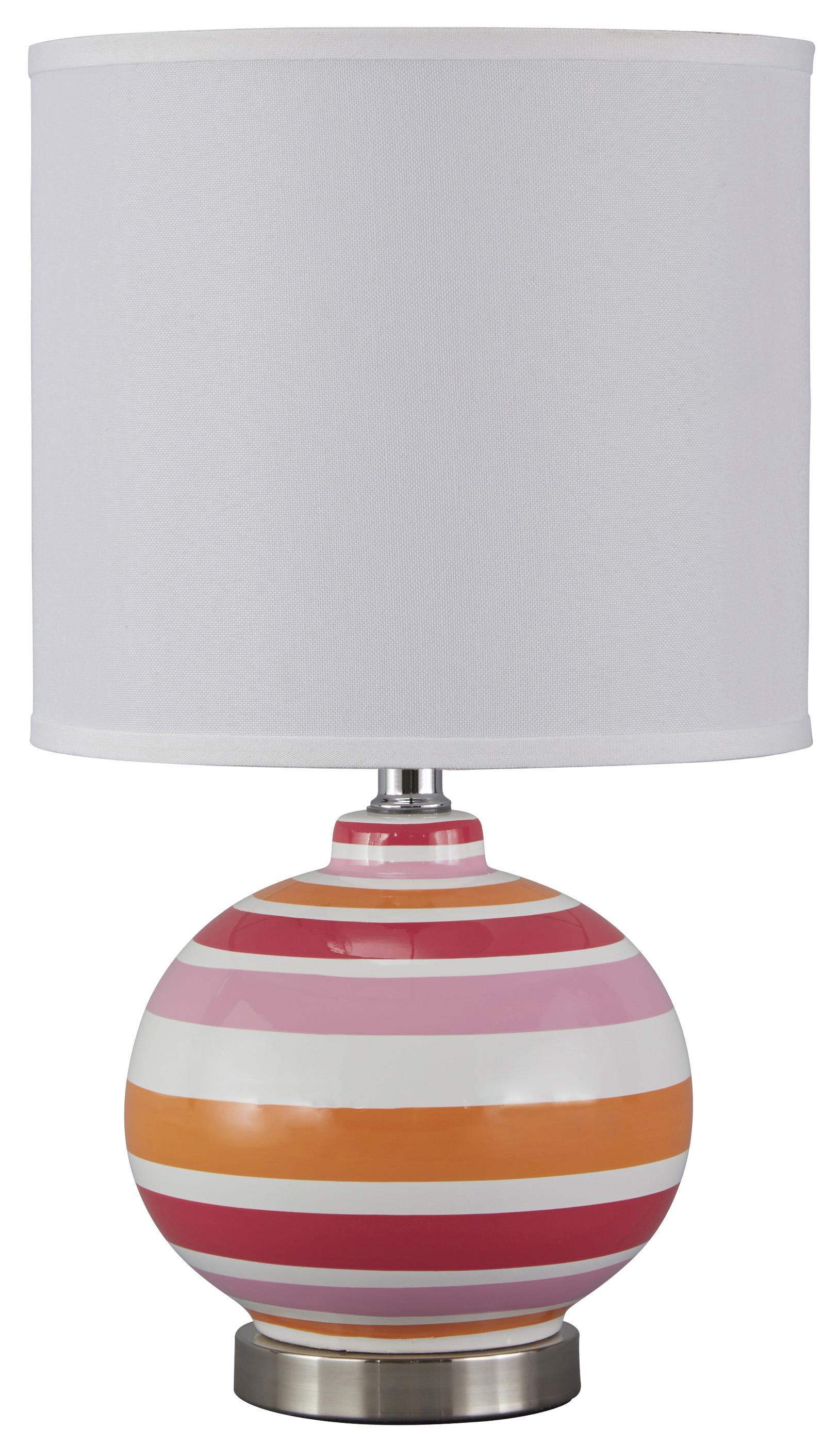 Signature Design by Ashley Lamps - Contemporary Sirene Ceramic Table Lamp - Item Number: L857474
