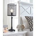 Signature Design by Ashley Lamps - Contemporary Asatira Black Metal Table Lamp