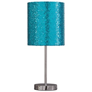 Signature Design by Ashley Lamps - Contemporary Maddy Teal/Silver Finish Metal Table Lamp