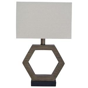 Marilu Faux Wood Table Lamp