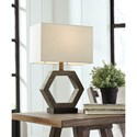 Signature Design by Ashley Lamps - Contemporary Marilu Faux Wood Table Lamp