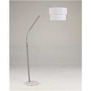 Signature Design by Ashley Lamps - Metro Modern Suzu Metal Arc Lamp