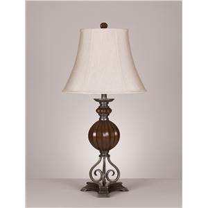 Signature Design by Ashley Furniture Lamps - Old World Olsa Poly Table Lamp