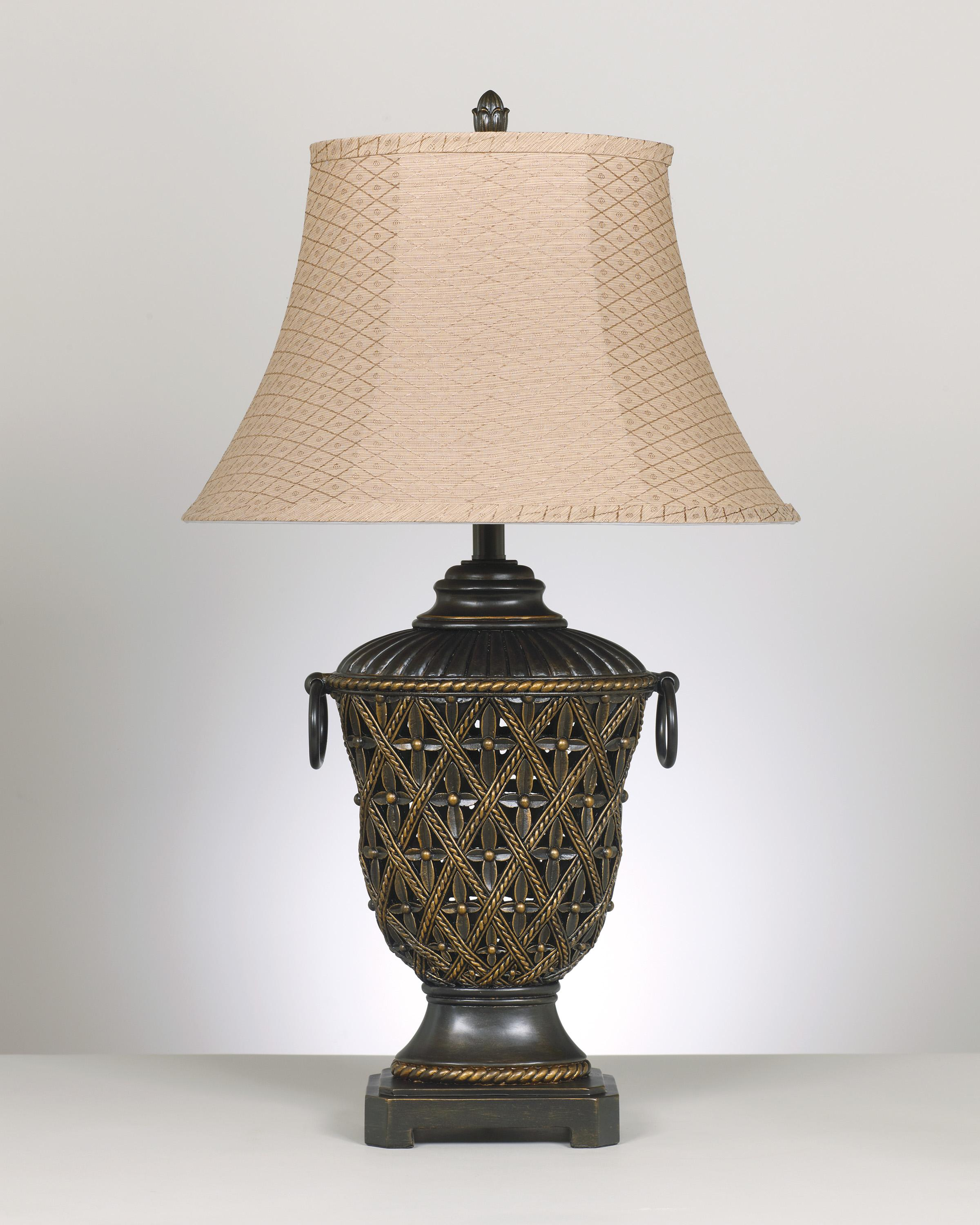 Signature Design by Ashley Lamps - Old World Set of 2 Redella Poly Table Lamps - Item Number: L513934