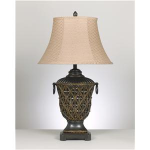 Signature Design by Ashley Lamps - Old World Set of 2 Redella Poly Table Lamps