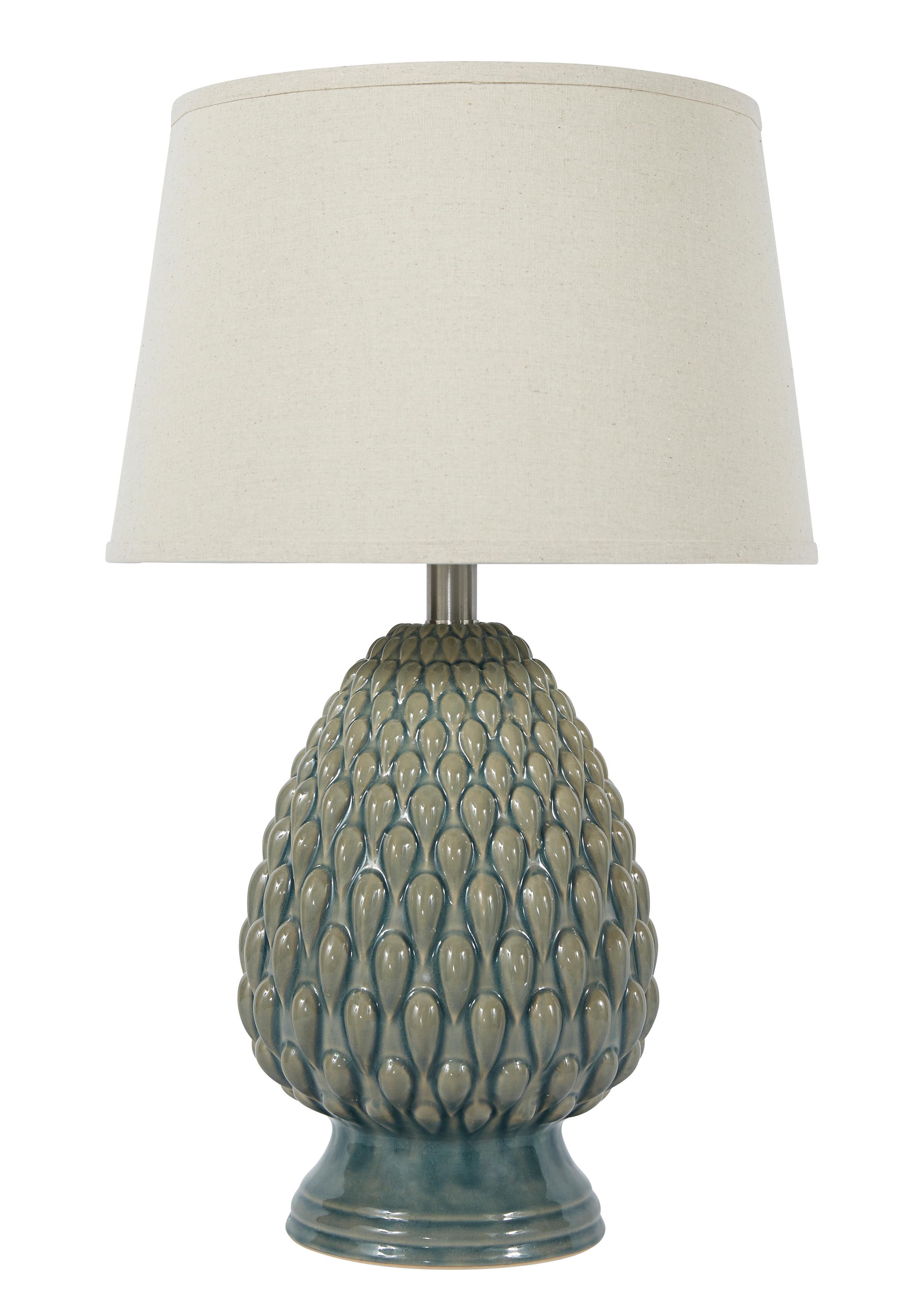 Signature Design by Ashley Lamps - Vintage Style Saidee - Teal Ceramic Table Lamp - Item Number: L100264